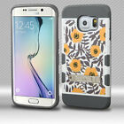 For Samsung Galaxy S6 EDGE Tuff Trooper HYBRID KICKSTAND TPU Case Phone Cover