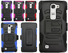 For LG Volt 2 Combo Holster HYBRID KICKSTAND Rubber Case Cover Accessory