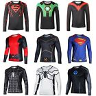 Men Long Sleeve T-shirts Superhero Batman The Avengers Comics Cycling Jersey New