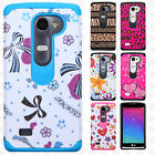 Boost Mobile LG Tribute 2 HARD Hybrid Rubber Silicone Case Cover +Sreen Guard