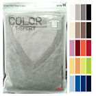 UNIQLO Men Packaged DRY V Neck Short Sleeve T-Shirt Choose Colors NEW