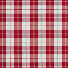 A571 Red and White Plaid Cotton Heavy Duty Upholstery Fabric