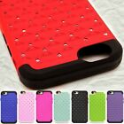 """For Apple iPhone 6s / 6 4.7"""" Fashion Diamond Bling Tough Hybrid Phone Cover Case"""