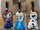 1x Kid silicone Children Girl Frozen Travel School Luggage Name Tag Holder badge