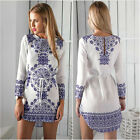 1* Summer Sexy Women Long Sleeve Party Dress Evening Cocktail Casual Mini Dress