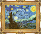 Framed Canvas Giclee Vincent van Gogh The Starry Night Print Repro Wall Art Gift
