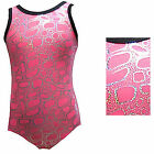 *Bubblicious* Girls Gymnastics leotard 24,26,28,30,32 Age 3-12 Pink/Silver