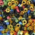 M6 x 1.0 Metric Anodized Aluminium Alloy Hex Nut - Choice Of Colour