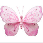 Wedding Butterflies Pink Nylon Hanging Fake Butterfly Decorations Party Bedroom