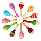 1&2X Colorful Wooden Maraca Rattles Kids Party Child Baby Beach Shaker Toy AU