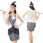 20s 30s Vintage Flapper Dress Charleston Gatsby Fringe Tassel Costume 12 14 16