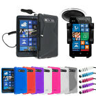 4 IN 1 BUNDLE PACK FOR NOKIA LUMIA 820 CASE CAR CHARGER HOLDER COVER STYLUS