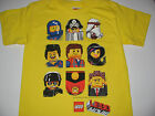 """New Lego Movie shirt boys size M L """"The gang"""" Emmet, Wyldestyle, cop faces"""