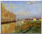 Stretched Art Claude Monet Seine at Argenteuil Vanilla Sky Painting Reproduction