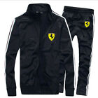men Full TrackSuit Jogging Top Bottom sport Suit sets Trousers outerwear strips
