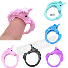 Cute Horse Unicorn Animal Candy Color Alloy Ring Lucky Gift Size 8 Korea Style