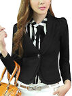 Fashion NEW Women Blazer Turn Down Collar Slim Single Button Jacket Suit Coat
