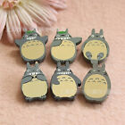 4 or 6pcs Totoro Funny Wooden Badges Pins Brooches Kids Xmas Gift Party Supply