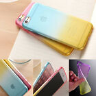 New Soft Silicone/Gel/Rubber Clear Ombre Case Slim Cover For iPhone 6 / 6 Plus