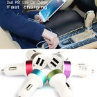 New 2-port USB Car Charger & Lightning Cable for iphone4/5/6 iPod/iPad & Smart p