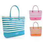 Bright Striped Shoulder / Beach / Shopping Bag ~ Blue, Pink or Orange