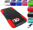 FOR SAMSUNG GALAXY PHONES RUGGED T-STAND HYBRID CASE PROTECTIVE COVER+STYLUS