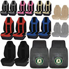 MLB Oakland Athletics Rubber Floor Mat High Back Seat Cover Universal Combo on Ebay