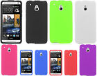 For AT&T HTC ONE MINI Rubber SILICONE Soft Gel Skin Case Cover +Screen Guard