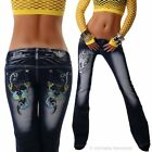 Women's Hipster Jeans Tattoo Bootcut Tribal Crazy Age New Uk 6,  8,  10 40 42
