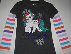 New My Little Pony long sleeve shirt Holiday Christmas girls sizes 4/5 6/6X 8
