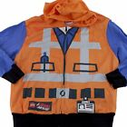 Lego Movie Emmet Boys Construction Jacket Pullover Hoodie Sz L for Costume