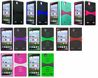 Screen Protector + Dual Hybrid Cover Phone Case For ZTE Lever Z936L LTE Z936C