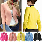 New Hot Women's Colorful Korea Fashion Solid Slim Casual Suit Blazer Coat Jacket