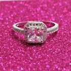 Sterling Silver ring CZ Princess cut Engagement Wedding Bridal size 4-10 New 925