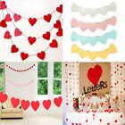 Heart Paper Wedding Bunting Banner Photo Props Cake Birthday Party Decoration