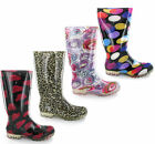 New Womens  Festival Wellington Boots Festival Fashion Waterproof Wellies