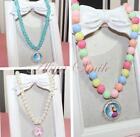 Girl Kids Necklace Princess Pearl Party Pendant Candy Round Beads Bubble Jewelry