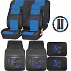 Synthetic Leather Seat Covers Set MLB Kansas City Royals Rubber Mat Universal on Ebay