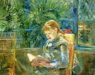 Little Girl Reading Berthe Morisot  Young Canvas Art Print Painting Reproduction