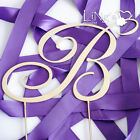 "4.5""/2.7"" Height Silver Initial Monogram Renaissance Wedding Cake Topper"
