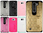 For Samsung Galaxy Note 5 Hybrid Star Diamond Rubber Case Phone Cover Kickstand