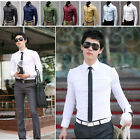 Fashion Men Luxury Stylish Dress Slim Fit T-Shirts Casual Long Sleeve New Tops