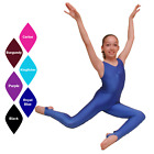 BN GIRLS LADIES WOMENS GATHERED FRONT SLEEVELESS STIRRUP FOOT CATSUIT DANCE/GYM