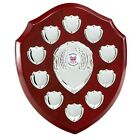 The Multi Sport 10 Year Annual Wooden Shield Award Trophy, Personalised Engraved