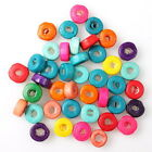 112639 Wholesale Fashion Assorted Colorful Round Charms Wooden Spacer Beads