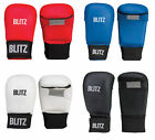 Blitz PU Elite Mitt Without Thumb - Black White Blue Red - Karate Taekwondo
