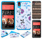 For HTC Desire 626 HARD Hybrid Rubber Silicone Case Phone Cover Accessory