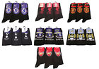 3 Pairs Of Official Kids Football Club Socks, Boys Youths Black Ankle Socks