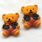 Gold Bear Resin Flatback Flat Backs Button DIY Craft Babyshow B0468