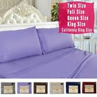 1600 Count 4 Piece Bed Sheet Set Deep Pocket 6 Color 5 Size Chemical Lace New image